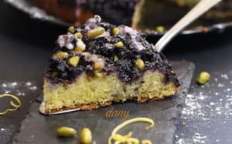 Gâteau aux myrtilles citron et pistaches