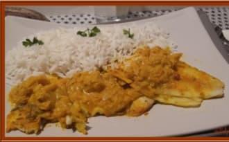 Filets de limande au curry