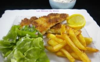 Filets de plie très croustillants en fish and chips pour la Saint-Patrick