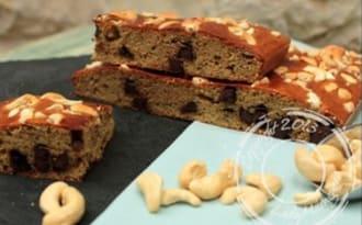 Banana cake aux noix de cajou et pépites de chocolat
