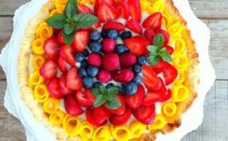 Artes aux fraises, mangue, framboises et myrtilles