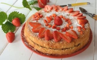 Biscuit pomme fraises