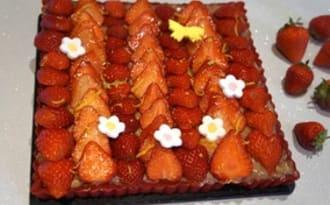 Tarte aux fraises comme chez Hugo&Victor