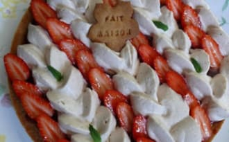 Tarte fraise speculoos