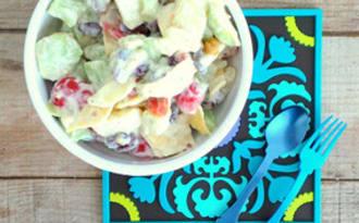 Salade composée un peu à la mexicaine