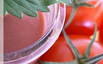 Smoothie fraise - tomate