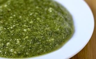 Sauce alcaline verte