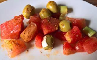 Salade de pastèque au ras el hanout