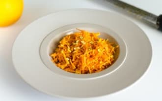 Salade orange : carotte, mimolette et orange