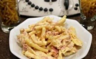 Gratin de macaronis jambon gruyère au Thermomix