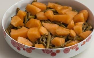 Salade de haricots verts au melon