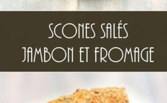 Scones salés au jambon et fromage