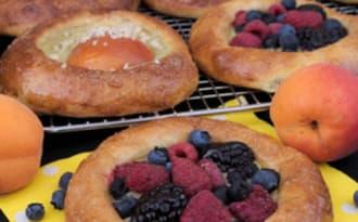 La brioche aux fruits rouge ou aux abricots