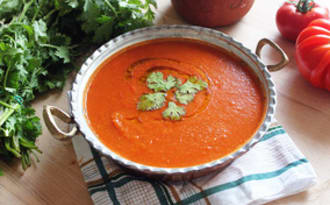 Soupe de tomate au levain