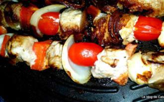 Brochettes grillées de porc