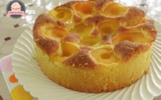 Gâteau aux amandes et aux abricots