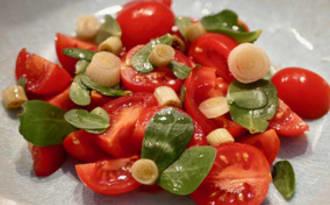 Salade de pourpier tomates cerises