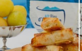 Nems au Bleu d'Auvergne et aux prunes