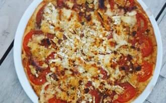 Tarte tomate, chèvre et miel