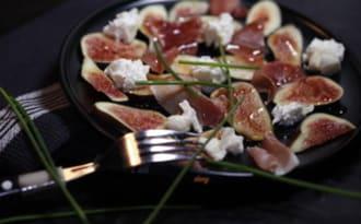 Carpaccio de figues mozzarella et jambon de Parme