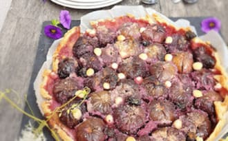 Tarte aux figues noires de Provence et à la noisette