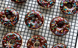 Donuts américains au chocolat