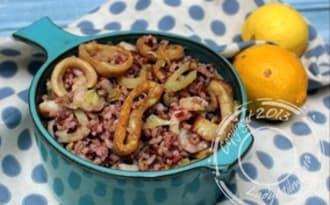 Salade de riz aux fruits de mer