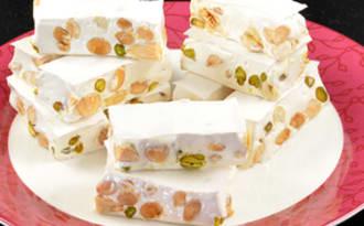 Nougat aux amandes et pistaches