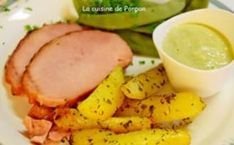 Rôti ardennais cuit au four avec ses pommes de terre