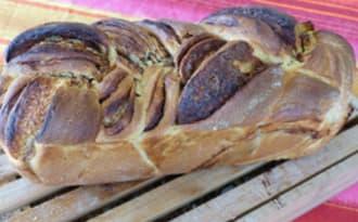 Brioche feuilletée et tressée à la pâte à tartiner