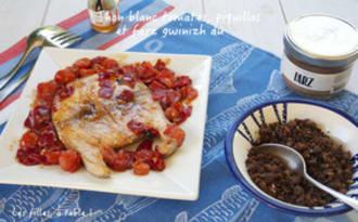 Darne de thon aux tomates, piquillos et Farz Guinizh Du