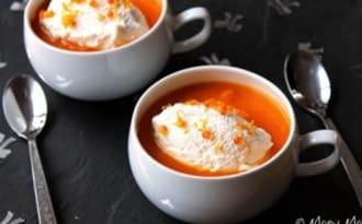 Cappuccino de potimarron et panais à l'orange