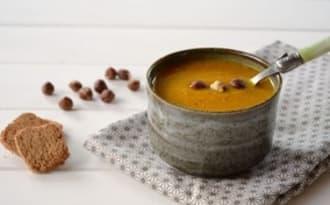 Velouté potiron et noisette aux saveurs d'automne