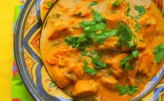 Poulet au curry indien