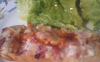 Baguette alsacienne aux lardons et Munster