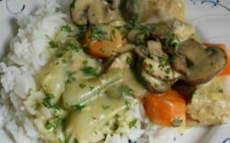 Blanquette de veau au curry et citron vert