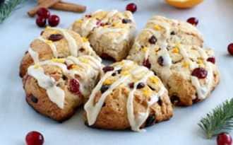 Scones orange et cranberries