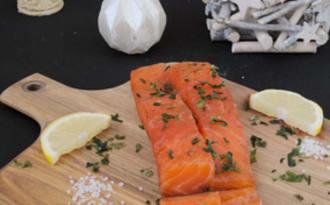 Saumon gravlax aux algues