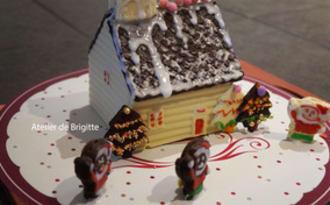 Petite maison en chocolat, réalisée à 4 mains
