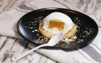 Boules de neige à l'abricot et au chocolat blanc