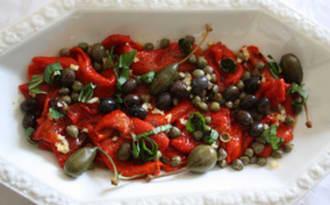 Salade de poivrons marinés aux couleurs de Noël
