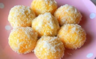 Sablés à la noix de coco et confiture