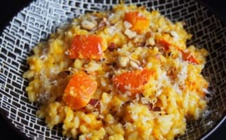 Risotto potimarron et noisettes