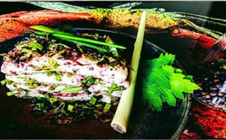 Filet de Turbp mariné au cassis