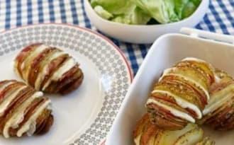 Pommes de terre rôties à la suédoise au gouda et au bacon