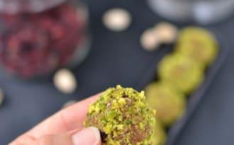 Okara balls pistache cranberry