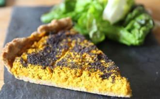Tarte carottes-curry-pavot