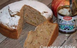 Cake à la crème de marrons et pomme caramélisée