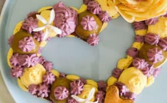 Heart cake hibiscus, vanille, myrtille