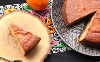 Gâteau d'oranges aux amandes et au chocolat